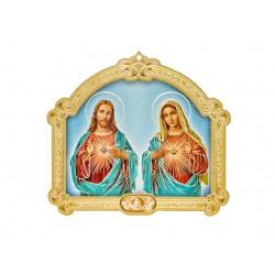 Tableau Coeur de Jésus et Marie
